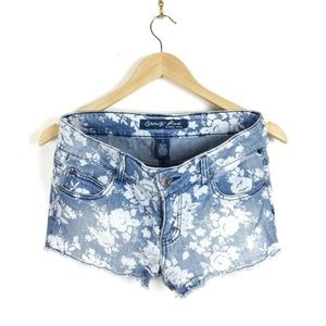 Celebrity Pink | floral denim cutoffs | Size 7